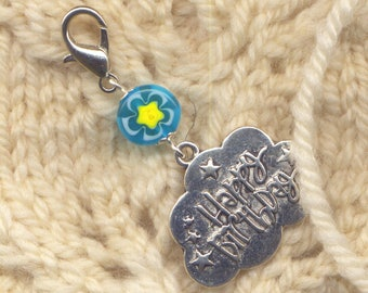 Happy Birthday Stitch Marker Clip  Single /SM76