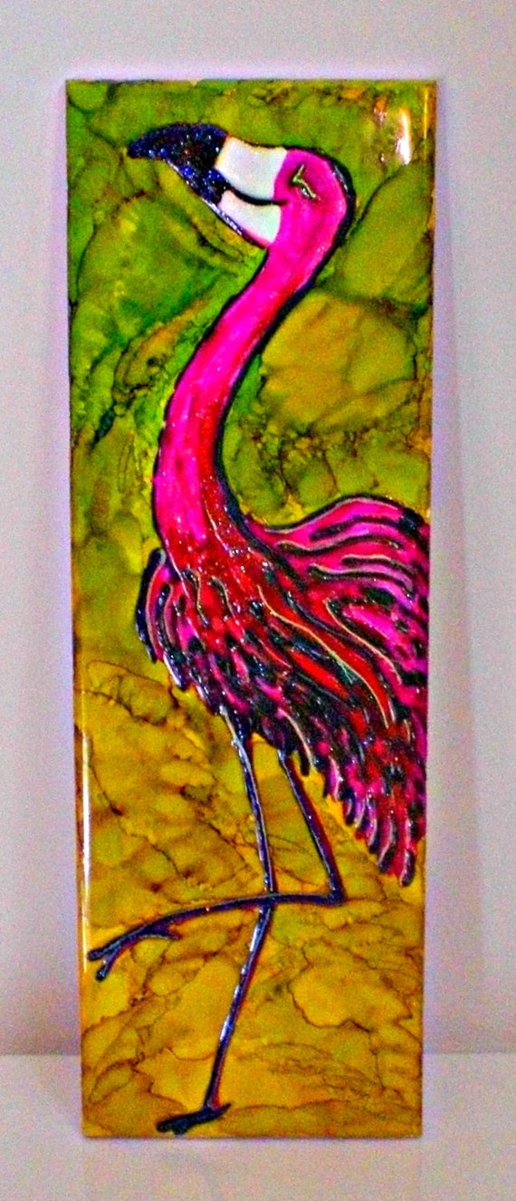 Flamingo Decor Decorative Tile Decor Ceramic Tile Wall Art