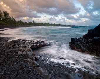 LIMITED EDITION - Hana Bay - Maui, Hawaii - Fine Art Print - Home Decor