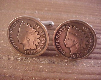 1906 Indian Head Penny Cuff Links