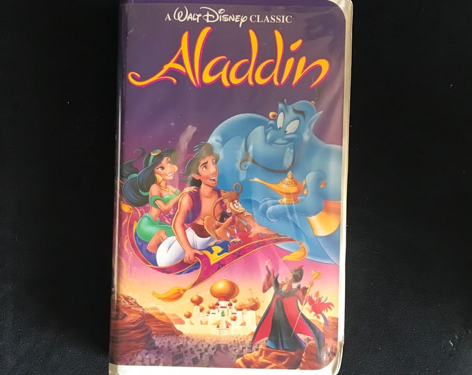 ALADDIN Disney 1990's Vintage Movie VHS