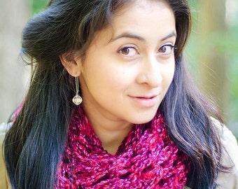 Knit Scarf - Chunky Knit Scarf - Infinity Scarf - Chunky Infinity Scarf - Pink Scarf - Knitted Scarf - Winter Scarf - Chunky Scarf