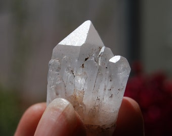 Pineapple quartz Crystal Cluster Clear