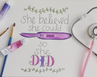 She Believed She Could Downloadable Print