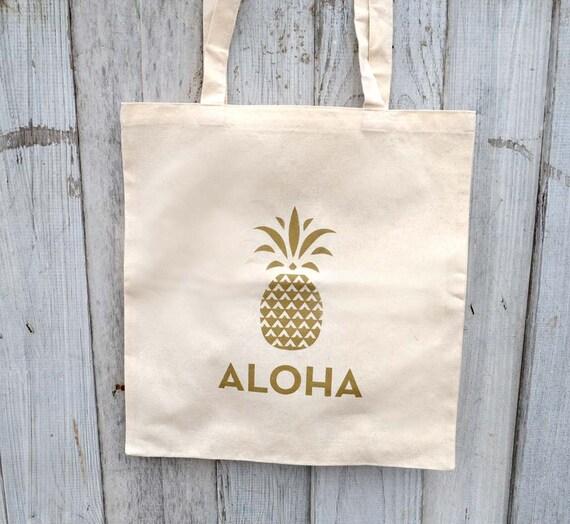Wedding Gifts From Hawaii: Eco-Friendly Aloha Pineapple Hawaii Wedding Gift Bag