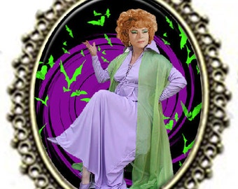 """Vintage style BEWITCHED """"Endora"""" Witch Pendant Necklace"""