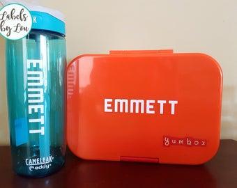 Vinyl Label COMBO - Water Bottle & Lunchbox
