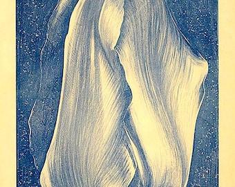 LOWELL NESBITT - 'Tulip' - hand signed & numbered original vintage lithograph - c1965 - large (artist's proof) ed
