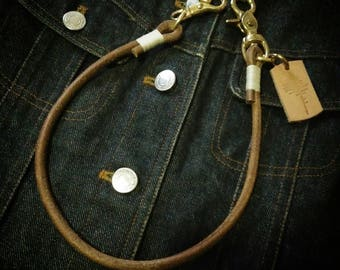 Leather rope chain,leather wallet chain,leather chain