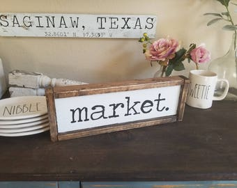 Market Sign | Farmhouse Sign | Farmhouse Decor | Farmers Market | Kitchen Decor | Fixer Upper | Rae Dunn | Farmhouse | Gifts For Her| Rustic