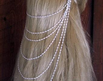 Crystal Drop Beaded Grecian Veil-Antique Rhinestone Combs-CRBoggs Original Design