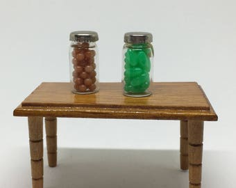 Vintage Miniature Jars of Candy - Dollhouse or Diorama Kitchen
