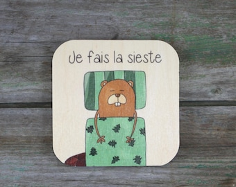 """Symbol """"I do NAP"""", wooden - Daily Routine - 3 to 5 years"""