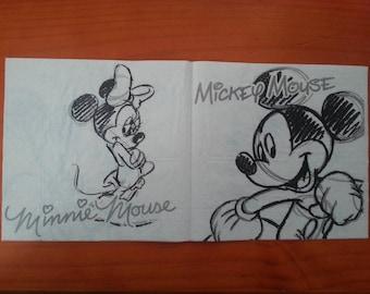 Mickey themed paper napkin
