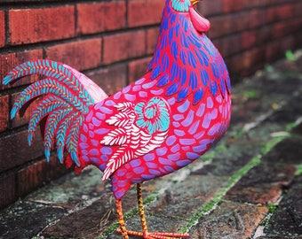 Chicken Sculpture   Hand Painted   Rooster   Chicken   Kitchen Decor   Home  Decor