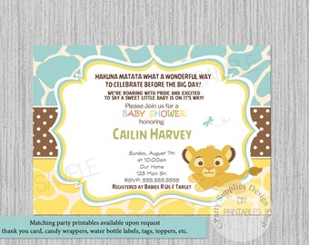 Simba nala baby shower invitations simba lion king baby lion king simba baby shower invitations simba baby shower invitations its boy baby shower filmwisefo Gallery