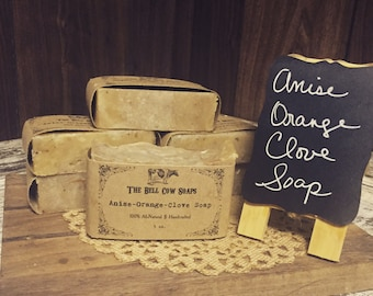 All Natural Anise Orange Clove Soap, Christmas Soap, Orange Soap, Clove Soap, Anise Soap, Old Fashioned Soap, All Natural Soap, Handmade