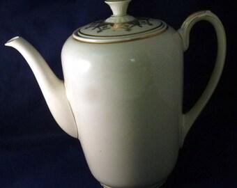Vintage Zeh Scherzer Bavaria Germany Porcelain Coffee Pot, 1930-1945