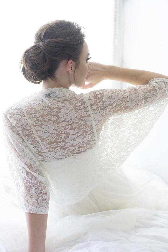 Plus size wedding bolero curvy bride bolero lace shawl