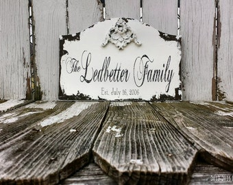 Established Sign | CUSTOM NAME SIGN | Family Name Sign | Personalized Last Name Sign | Housewarming Gift | Anniversary Gift | Wedding Gift