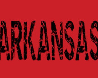 Arkansas Distressed Shirt