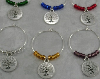 Tree of Life Wine Charms