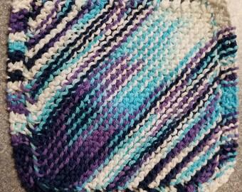 Handmade Knitted Dishcloth - Moondance