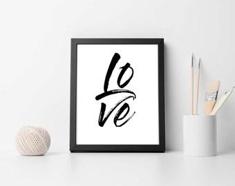 Printable Art, Love Word Art, Instant Download