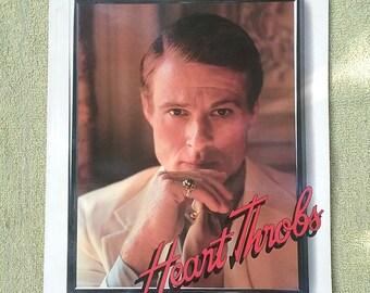 Movie Poster Book Heart Throbs Vintage 1985 Redford Gable Dean Brando Burt Reynolds Elvis Presley more