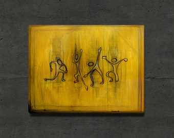 """Untitled Figures - Gallery Wrapped Art Canvas 30x20"""""""