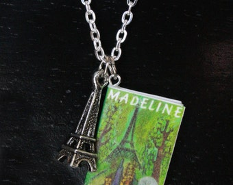 Madeline Mini Book Necklace