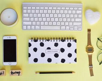 Weekly Planner 2017 | 53 weeks | Polka dots design