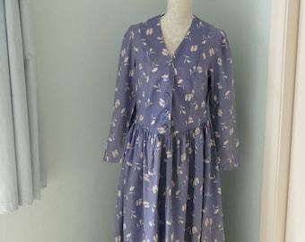 Vintage Laura Ashley Tea Dress. Classic Charm.