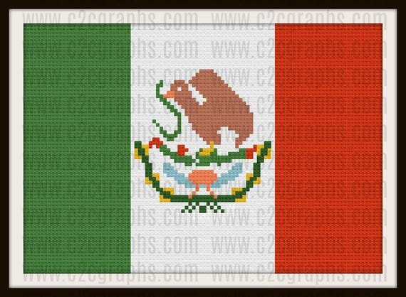 Mexico Flag C2c Graph Mexico Flag Crochet Pattern Mexico Flag