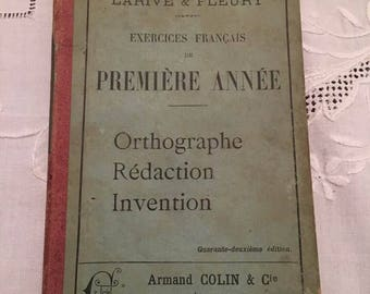 1897 Paris  Premiere Annee, Orthographe, Redaction, Invention Book