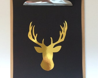 Gold A4 Stag Print