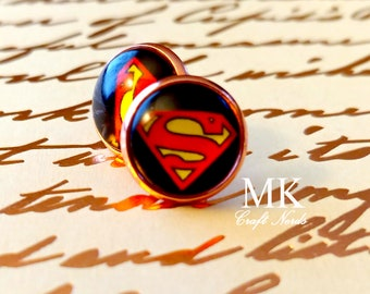 Superman Post Earrings
