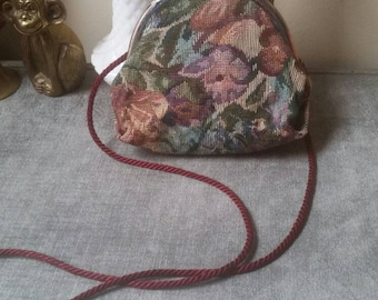 Vintage Tapestry Purse || 90s Fashion || Floral