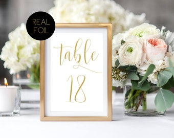 Gold table number | Etsy