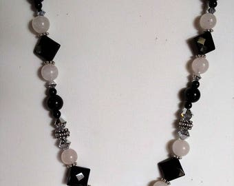 Black Onyx and moonstone Necklace