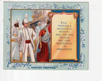 tellerTurkish Trophies Fortune tobacco card you possess A wonderful memory