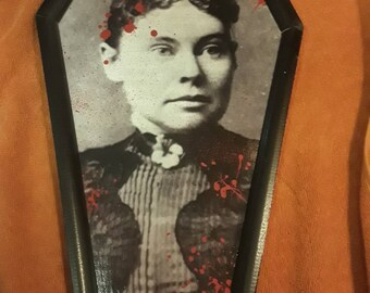 Lizzie Borden COFFIN Wall Art