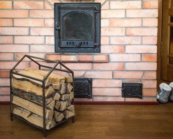 Small Firewood Holder // Carrier // Iron House Log Holder //