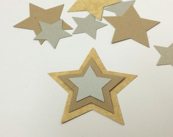 Diecut Stars (30), Cardboard Stars, Paper Stars, Childrens Craft, Ornament Base, Recycled Gift Tags, Swing Tag, Eco-Friendly Table Scatters