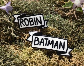 Batman and Robin Banner Pins