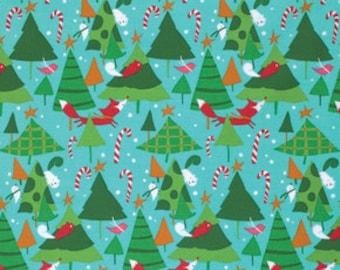 SALE - Winter Wonderland  - By David Walker - Tree Farm - Candy - 1 Yard - 7.75 Dollars