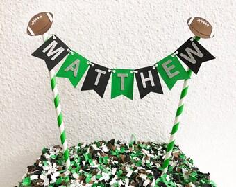Football Cake Topper | Football Cupcake Topper | Cake Topper | Football Party Decor | Football Birthday cake | Football Theme Party | Footba