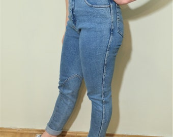 Vintage High Waisted Denim Light Blue Trousers Women's size 36
