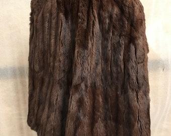 Vintage rabbit fur brown bolero woman size universal .