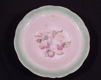 Vintage Plate with Apple Blossoms